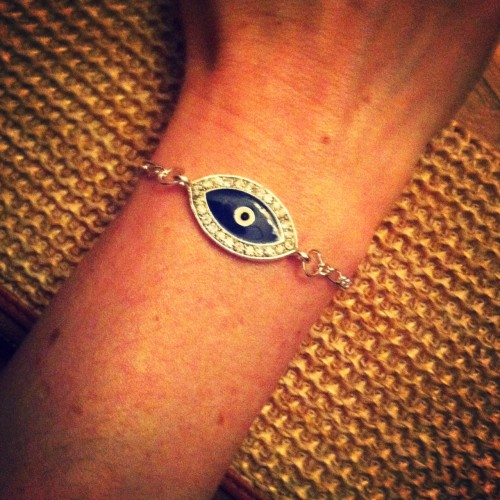 New Dress A Day - DIY - Jewelry Making - Evil Eye Bracelet