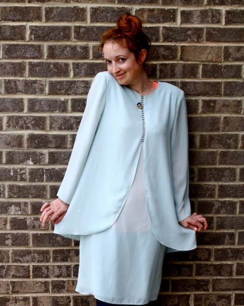 New Dress A Day - DIY - Goodwill - upcycled mother of the bride dress