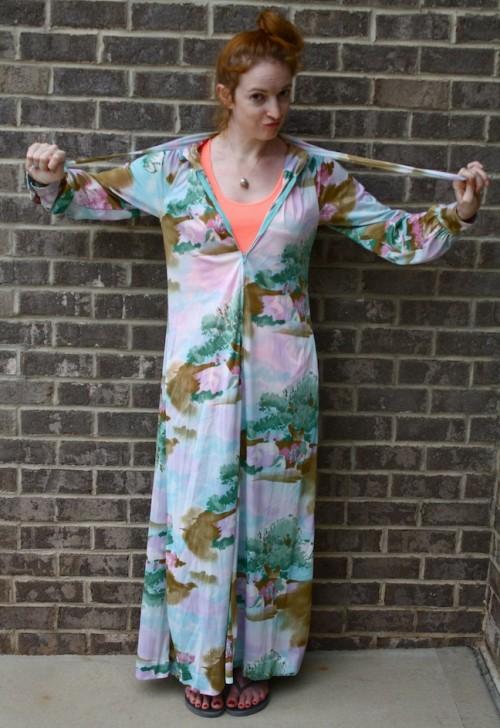 New Dress A Day - DIY - Vintage Dress - Goodwill - Baby Shower Dress