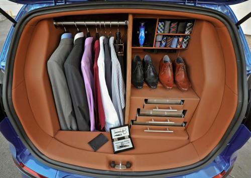 New Dress A Day - DIY - Barney Stinson's Car Trunk Closet