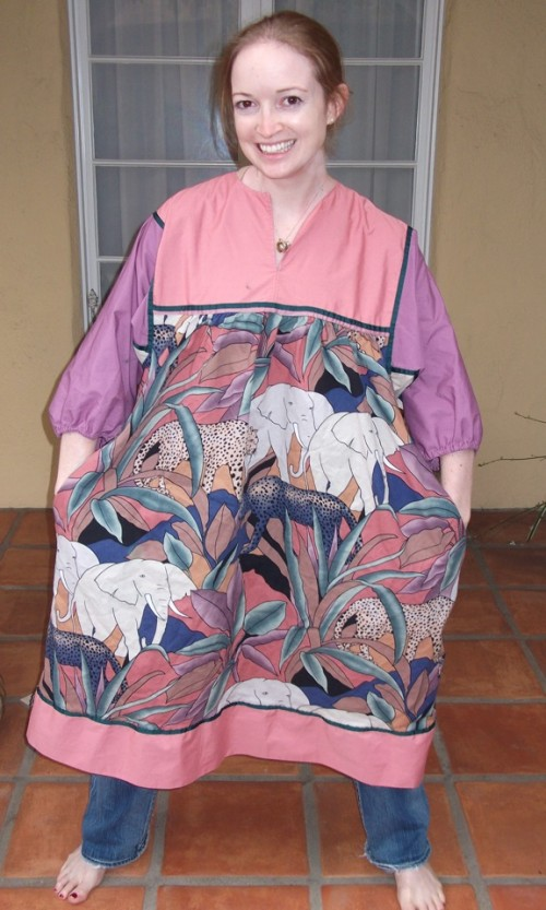 New Dress A Day - DIY - Vintage Animal Dress - Krist Gudnason