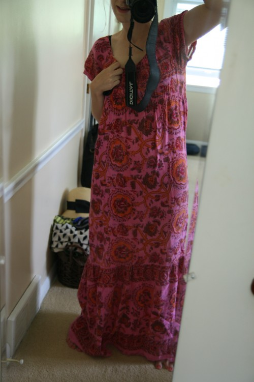New Dress A Day - DIY - vintage maxi dress - Goodwill