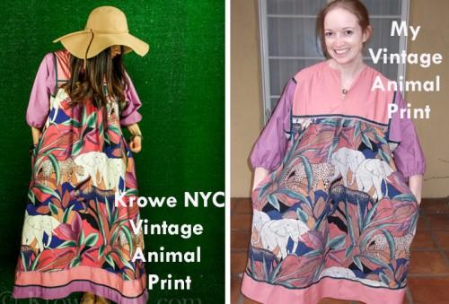 New Dress A Day - DIY - Vintage Floral Dress - Elephant Kaftan Twins