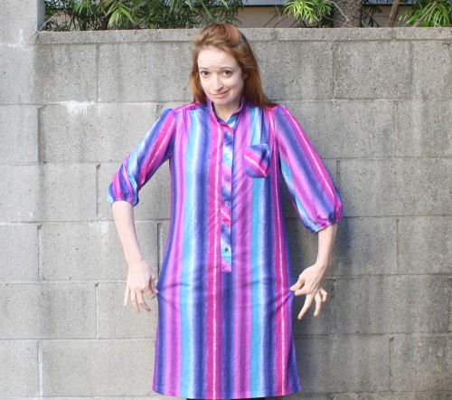New Dress A Day - DIY - Vintage Dress - Goodwill Nightgown