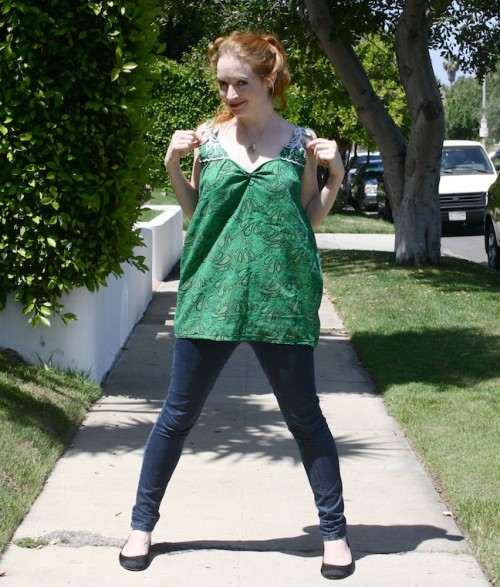 New Dress A Day - VIntage Muumuu - DIY - Goodwill - Upcycled Top