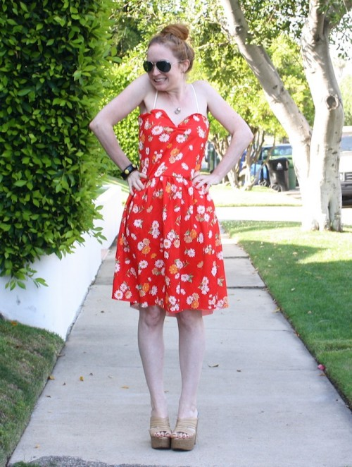 New Dress A Day - DIY - Goodwill Dress - Vintage Sundress