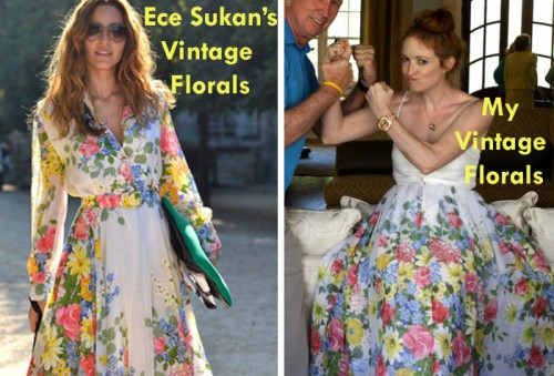 New Dress A Day - DIY - Vintage Floral Dress - Ece Sukan