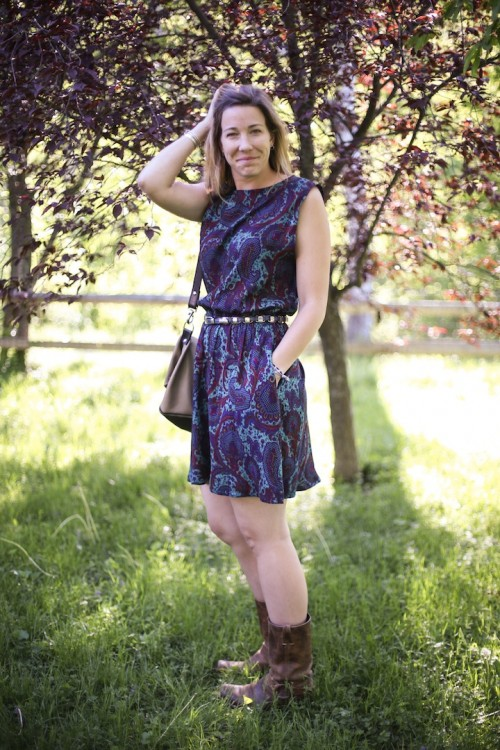 New Dress A Day - My Mother's Attic - Vintage Dress - DIY - Summer Paisley Dress