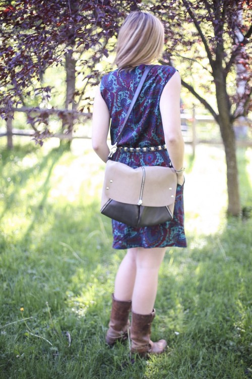 New Dress A Day - My Mother's Attic - Vintage Dress - DIY - Pinellapi bag