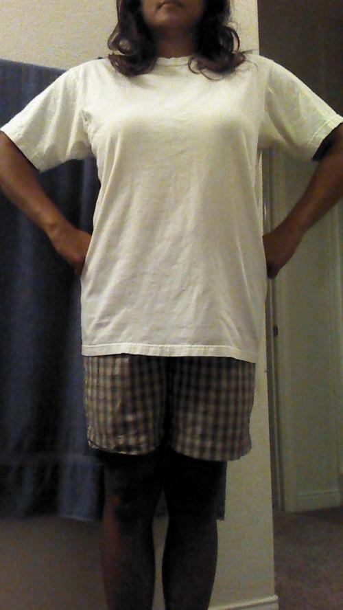 New Dress A Day - DIY - old white t shirt - tie dye