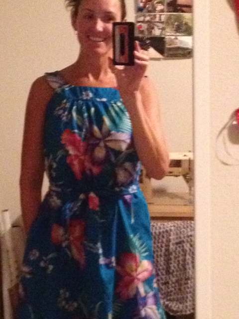New Dress A Day - DIY - Vintage Muumuu - Hawaii print fabric