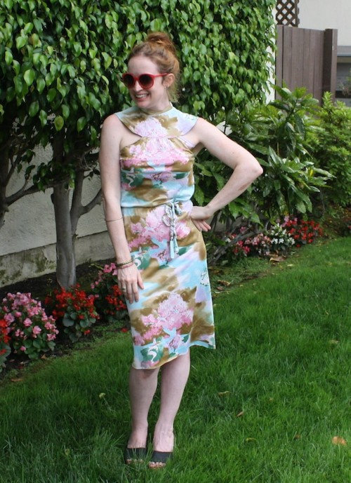 New Dress A Day - DIY - Vintage Muumuu - Fabric remnants