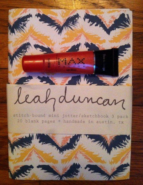 New Dress A Day - Giveaway - Leah Duncan notebook - Conteat