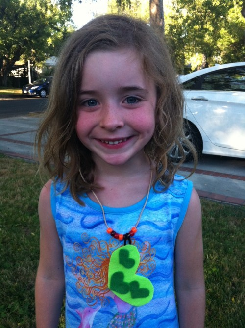 New Dress A Day - DIY - Joann's - Kids Crafts - Felt Flower Necklace