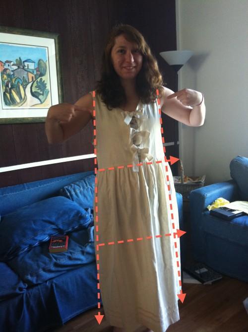 New Dress A Day - DIY - Vintage Dress - Goodwill