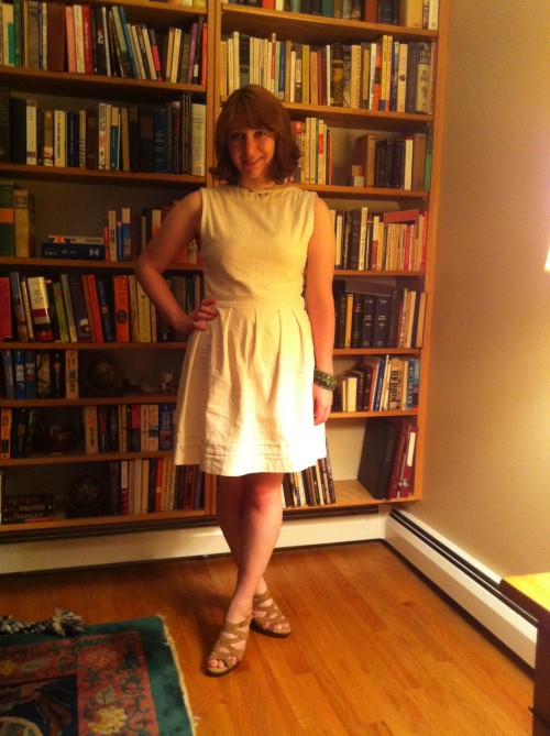 New Dress A Day - DIY - Vintage Dress - Goodwill