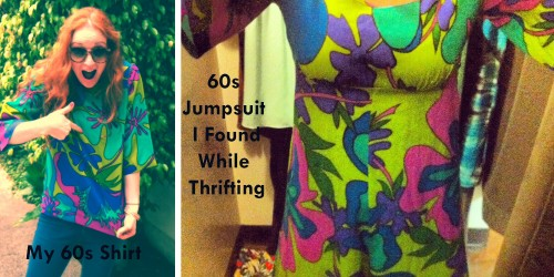 New Dress A Day - DIY - Vintage 60s Fabric - Jumpsuit