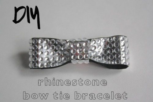 New Dress A Day - DIY - Rhinestoned Bow Tie