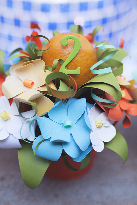 New Dress A Day - DIY - Little Junebugs - Paper Flowers - Centerpieces