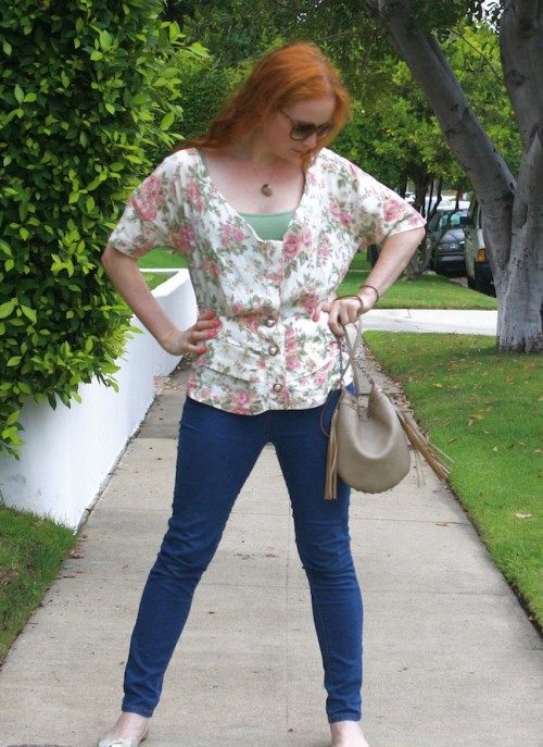 New Dress A Day - Vintage Floral Top - Housing Works - DIY