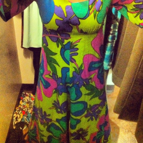 New Dress A Day - vintage jumpsuit - 60s floral fabric