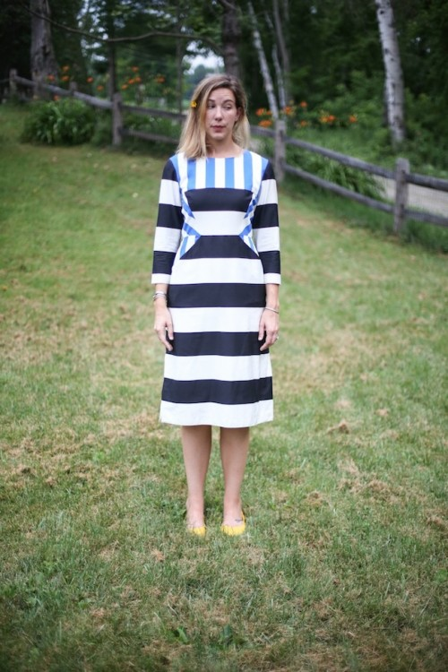 New Dress A Day - DIY - Marimekko Striped Dress - Dress with pockets