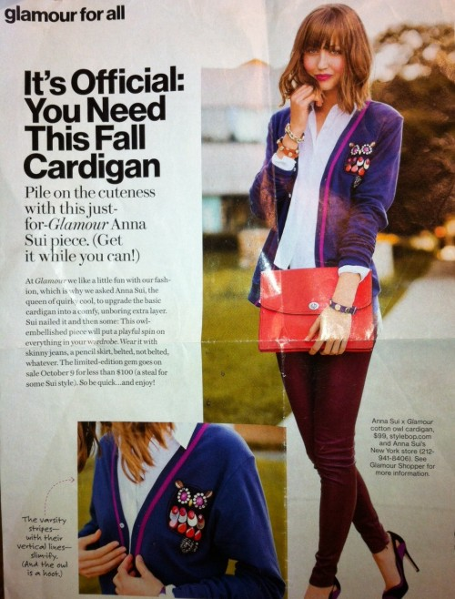 New Dress A Day - DIY - Glamour Magazine - Embellished Cardigan