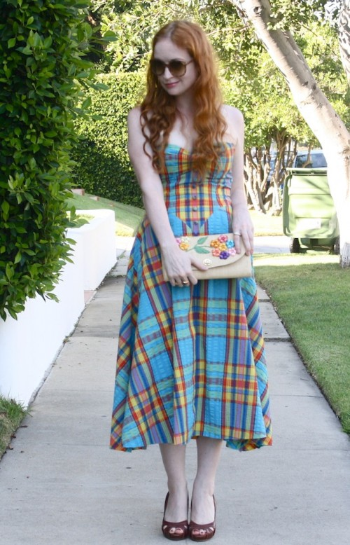 New Dress A Day - DIY - Goodwill - vintage dress - thrift store shopping