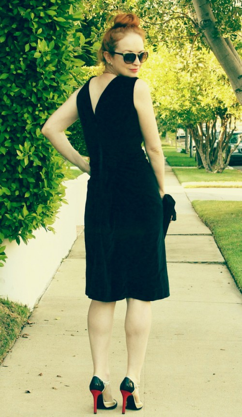 New Dress A Day - Housing Works Thrift Store - Buy the Bag - Vintage Black Velvet Dress