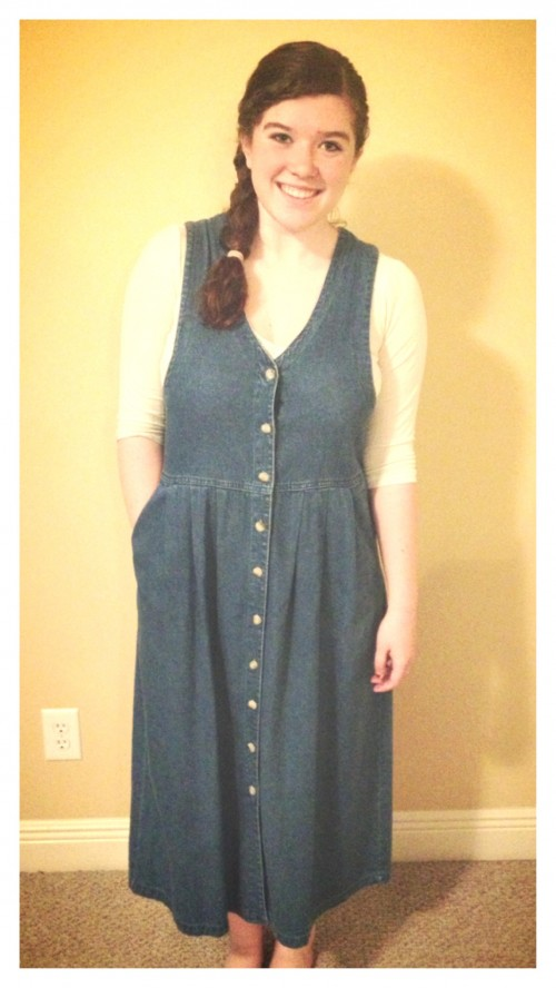 New Dress A Day - DIY - Goodwill - thrift store shopping