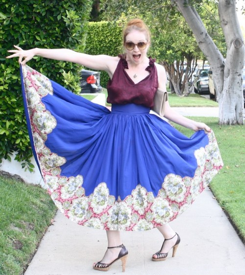 New Dress A Day - DIY - Goodwill - thrift store shopping - vintage skirt