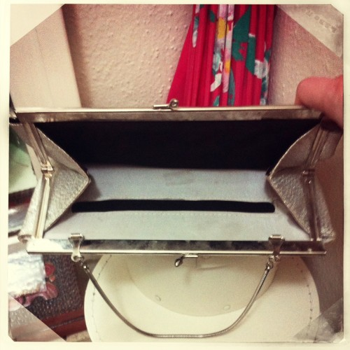 New Dress A Day - vintage silver clutch