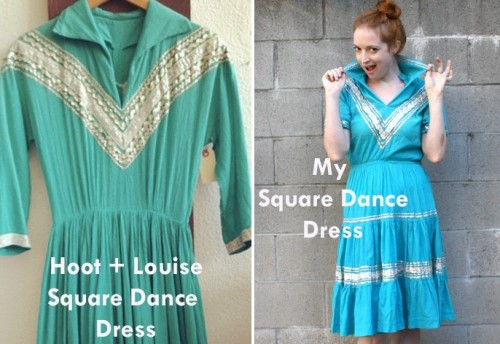 New Dress A Day - Square Dance Dress - 1950s - vintage dress