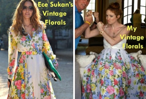 New Dress A Day - Vintage Floral Twins - Ece Sukan