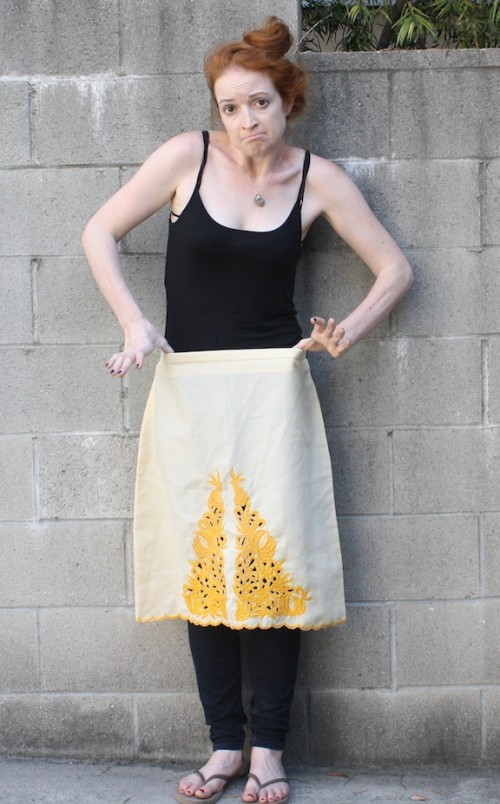 New Dress A Day - DIY - vintage skirt