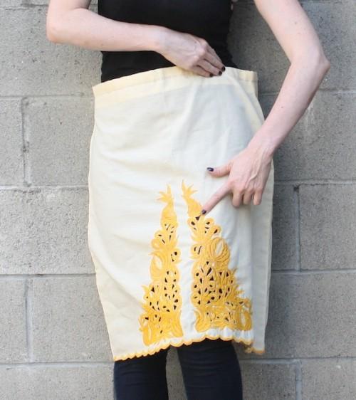 New Dress A Day - DIY - vintage skirt