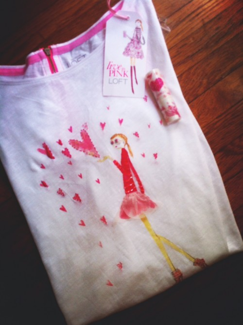 New Dress A Day - DIY - LOFT Breast Cancer Awareness T - Giveaway