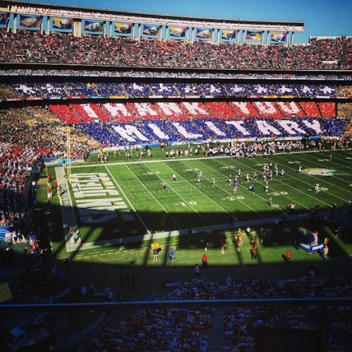 New Dress A Day - Qualcomm Stadium - Veteran's Day Crowd Shot - Broncos/Chargers