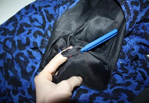 New Dress A Day - DIY - VIntage Dress - Blue Leopard Print