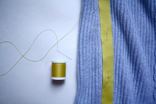 New Dress A Day - Boden Sweater Copycat - yellow and grey - Supplies