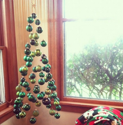 New Dress A Day - DIY Christmas ornament hanging tree