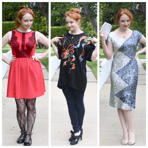 Goodwill - Holiday Trio Collage - New Dress A Day