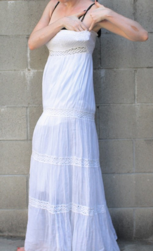 New Dress A Day - DIY - White Linen Dress - Tie Dye