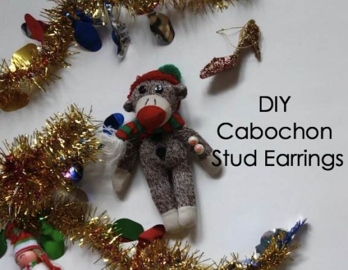 New Dress A Day - Holiday DIY - stud earrings