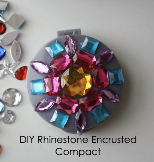New Dress A Day - DIY - rhinestone encrusted compact