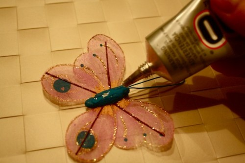 New Dress A Day - DIY - garden pick hair clip