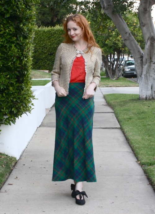 New Dress A Day - DIY - Vintage Plaid Apron