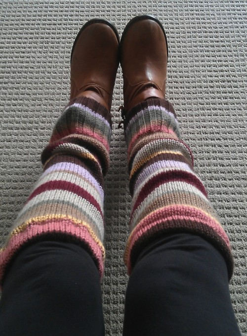 New Dress A Day - DIY leg warmers - upcycled sweater