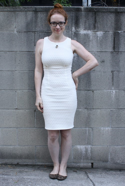 New Dress A Day - white shift dress - DIY - Michael Kors Copycat