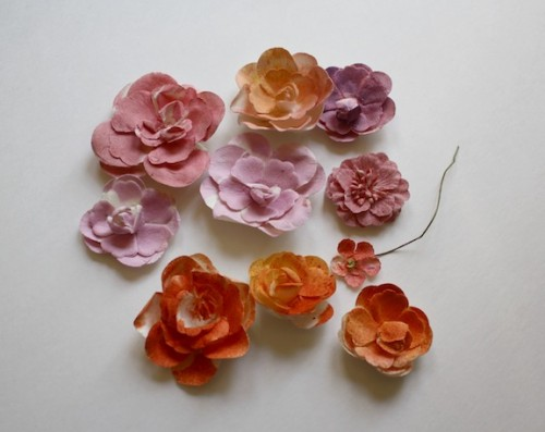 New Dress A Day - DIY - Paper Flower Headpiece - Rit Dye